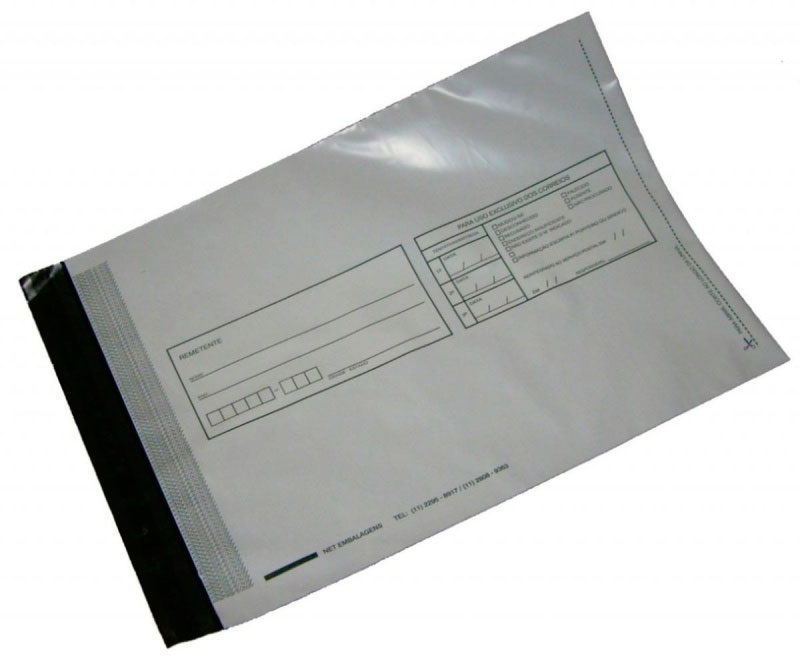 envelopes em plástico tipo void